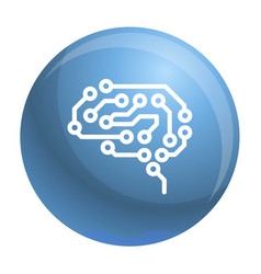 future brain icon outline style vector image