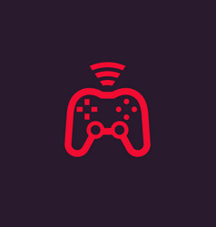 gamepad wireless game controller icon vector image
