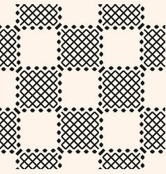 Geometric checkered seamless pattern vector