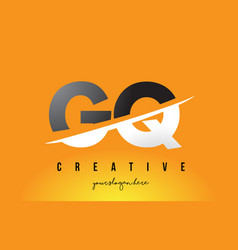 gq g q letter modern logo design with yellow vector image