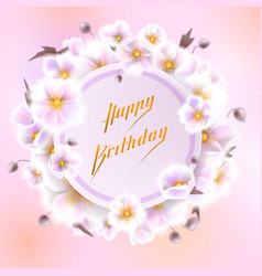 greeting card with white flowers can be used as vector image