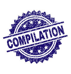 Grunge textured compilation stamp seal vector