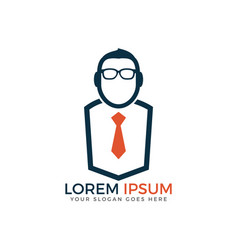Guy with glasses and tie vector