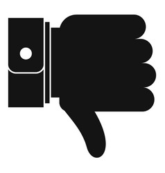 Hand sediment icon simple black style vector