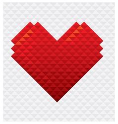 Heart Shape Mosaic Style vector