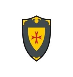 Heraldic shield icon flat style vector image