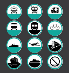 icon transport vector image