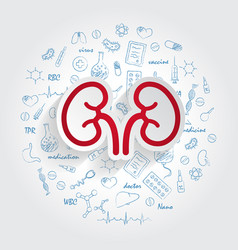 icons for medical specialties nephrology and vector image