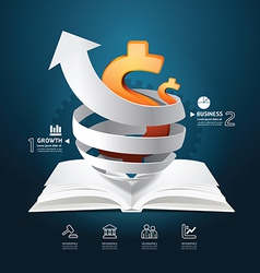 Infographic paper graph book diagram creative vector image