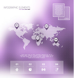 Infographics blurred background scene vector