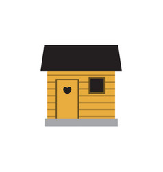 Isolated barn flat icon stabling element vector