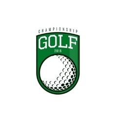 Label golf vector