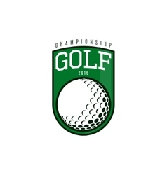 label of golf vector image