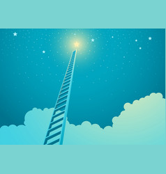 Ladder leading to bright star vector