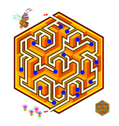 Logical puzzle game with labyrinth for children vector