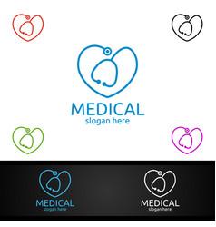 Love cross medical hospital logo for emergency vector