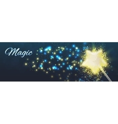 Magic background shining stars vector image