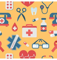 Medical seamless pattern in trendy flat style vector image