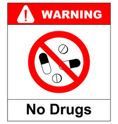 no pills sign isolated on white background vector image