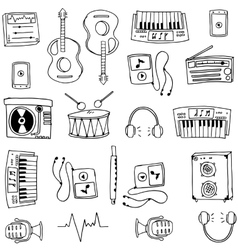 Object music tools doodles vector