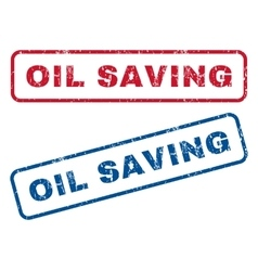 Oil Saving Rubber Stamps vector