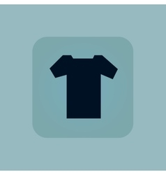 Pale blue T-shirt icon vector