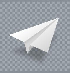 Paper plane realistic 3d model white paper vector
