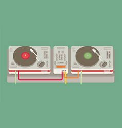 Party and sound musical entertainment flat vector
