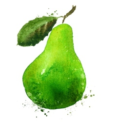 PEAR logo design template food or fruit vector image