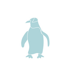 Penguin sea life animal isolated icon vector