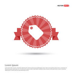 Price tag icon - red ribbon banner vector