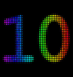 rainbow colored dot ten digits text icon vector image