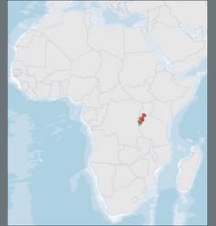 Republic burundi location on africa map vector
