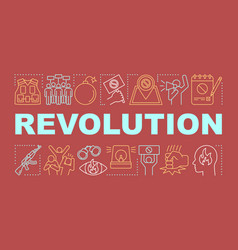 Revolution word concepts banner political vector