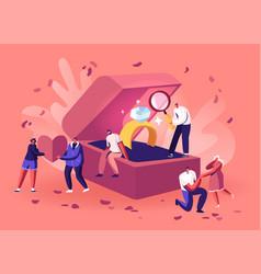 romantic proposal concept men choose engagement vector image