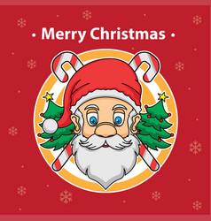 Santa claus and merry christmas vector