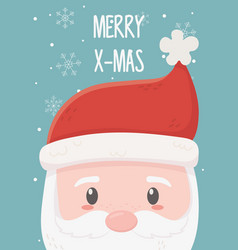 santa claus celebration happy christmas vector image