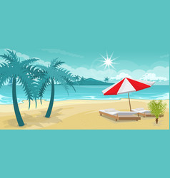 seascape rest on the beach vector image