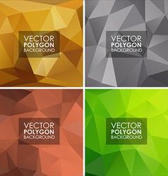 Set geometric polygonal backgrounds vector