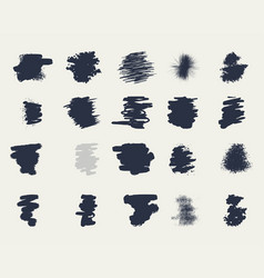 set of grunge artistic brush strokes vector image