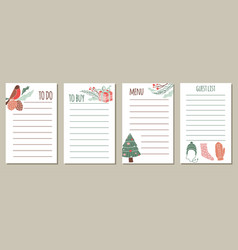 set of to do lists for new year vector image