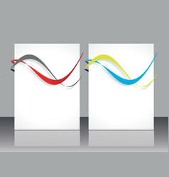 set ofbanners with colorful smooth futuristic vector image