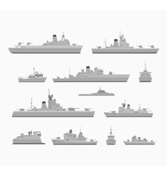 Set warships vector