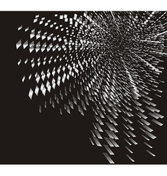 Silver particles rotating vector