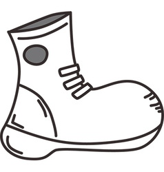 Simple shoe sketch design vector