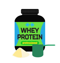 sports nutrition whey protein professional powder vector image