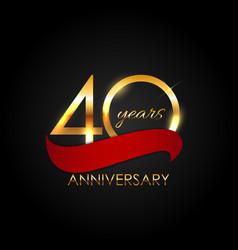 Template 40 years anniversary vector
