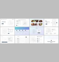templates for website design portfolio vector image