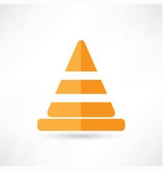 traffic cones vector image