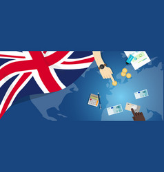 uk united kingdom england economy fiscal money vector image